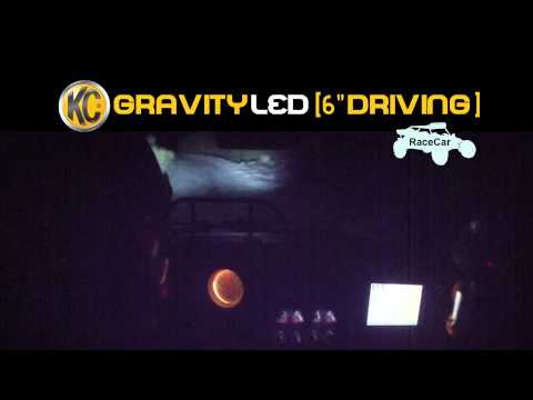 KC HiLiTES Off-Road Light Testing on Race Car - Gravity® LED G6 Spread System