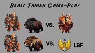 castle clash lvl 200 double evolved beast tamer game play