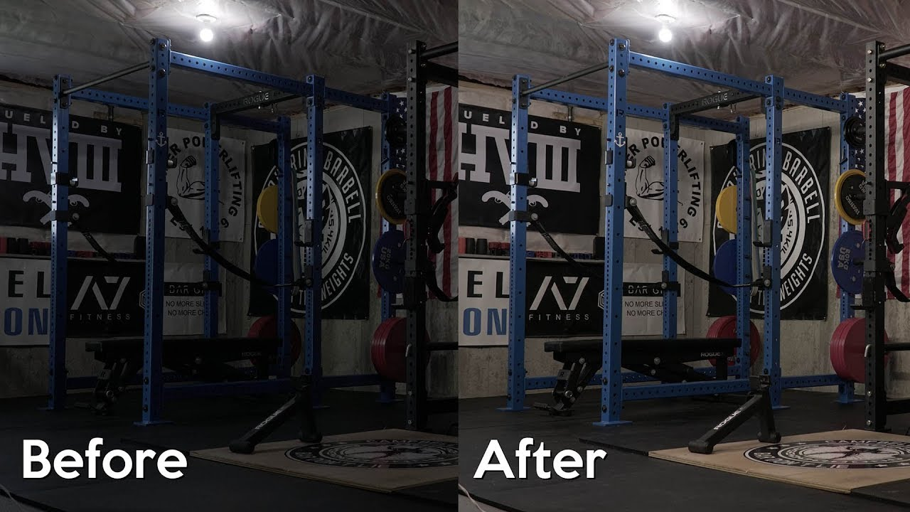 Home gym lighting and squatting in a short rack youtube