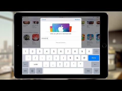 Redeem App Store (iTunes) Giftcard or Promo Code [iOS9, iOS10]