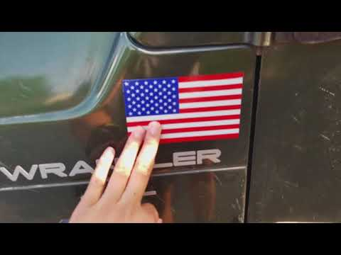 Jeep U.S. Flag Decals Install