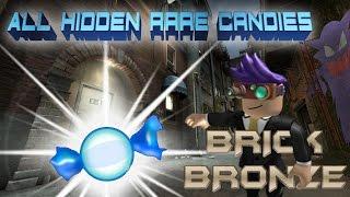 Roblox: Pokemon Brick Bronze - Tous les rares endroits de bonbons Anthian City!