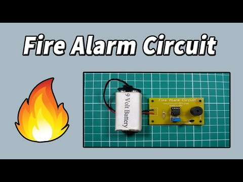 How to make Simple Fire Alarm Circuit using Thermistor   Electronics Projects