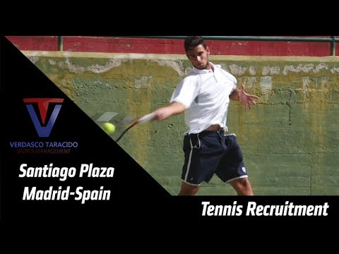 College Tennis Recruitment - Santiago Plaza (Spain) - FALL 2017