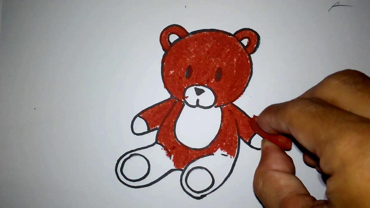 Cara Menggambar Boneka Teddy Bear Untuk Anak Tk Sd Youtube