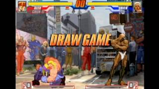 Capcom Fighting Evolution time over/draw game poses