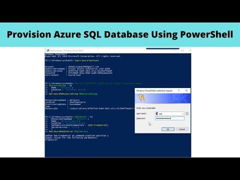 Provision Azure SQL Database Using PowerShell