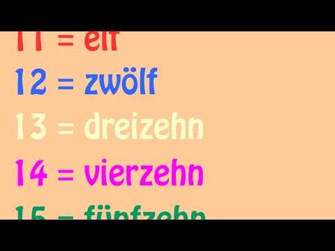 Das deutsche Zahlenlied 11 - 20 (German Numbers Song 11 - 20) - Learn German easily