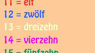 Das deutsche Zahlenlied 11 - 20 (German Numbers Song 11 - 20) - Learn German easily