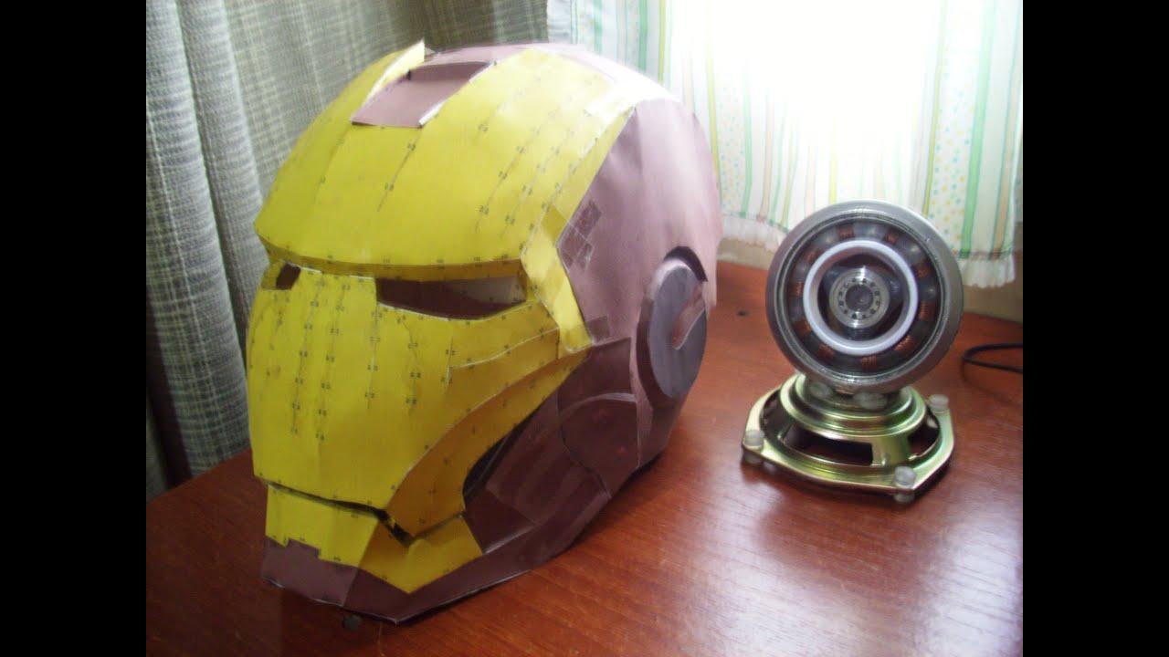 hacer casco de ironman en papel con pepakura - youtube