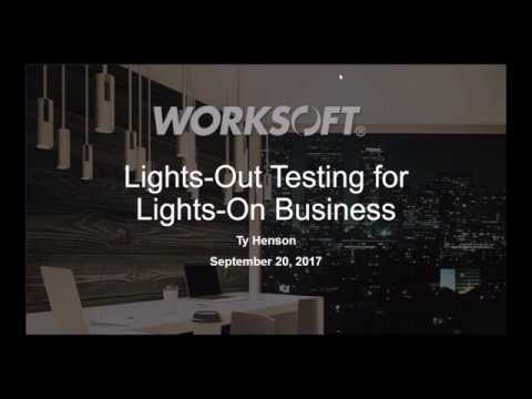 Lights-Out Testing for Lights-On Business