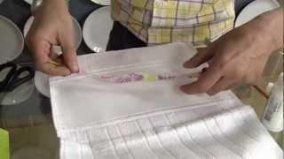 Veja como decorar toalhas com a decupagem em tecido