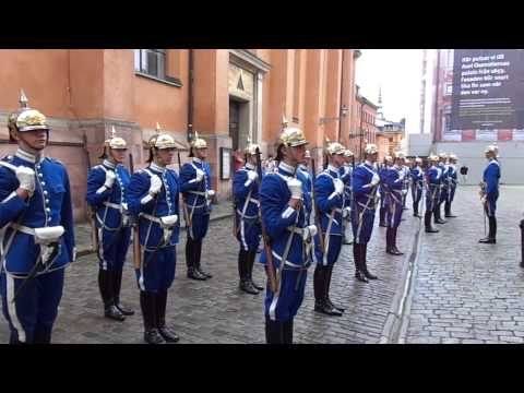 Swedish Royal Guards at the Royal Palace in Stockholm, Sweden