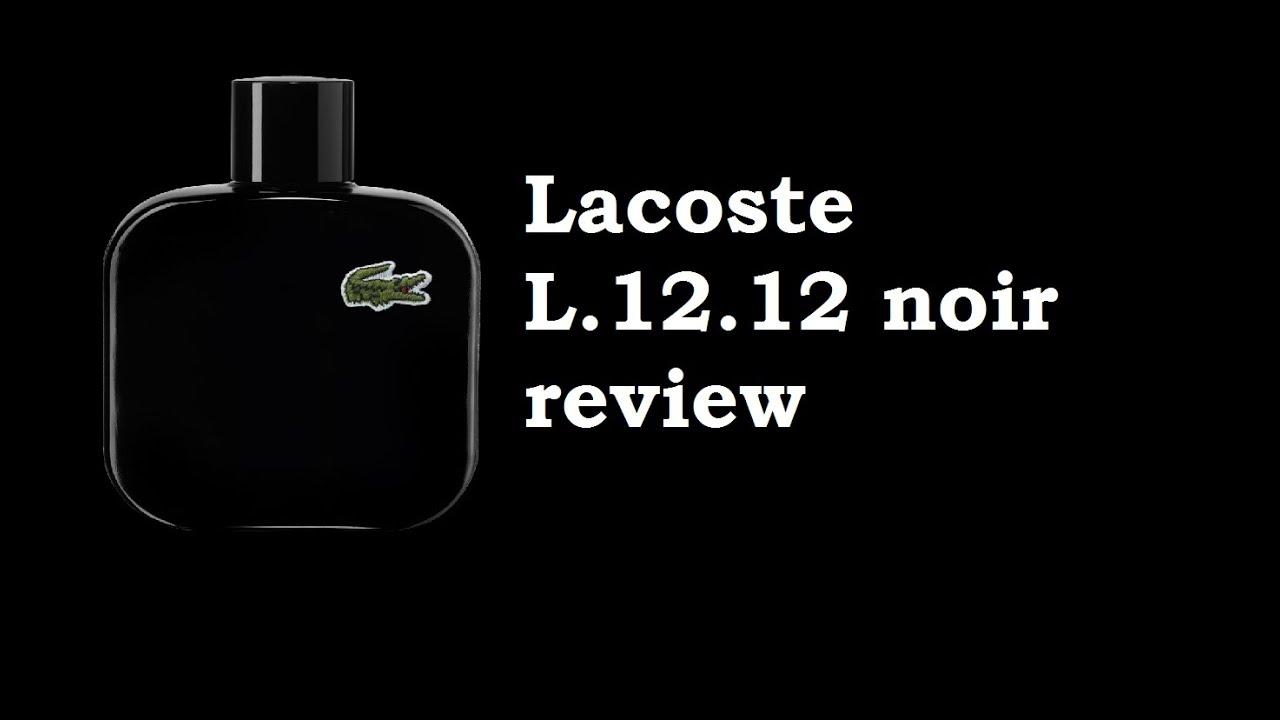 Eau de Lacoste L.12.12 Noir Review - YouTube 9f144eb95f