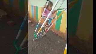 Cute climbing || Amazing kids || 1.6 years baby climbing slider very easily