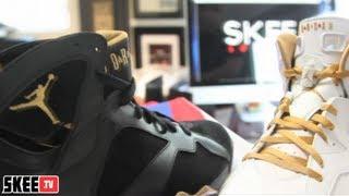 "Skee Locker: Air Jordan VI & VII ""Gold Medal"" Pack Unboxing & Review"