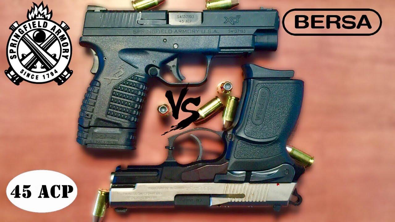Springfield XDS VS Bersa Thunder Ultra Compact pro