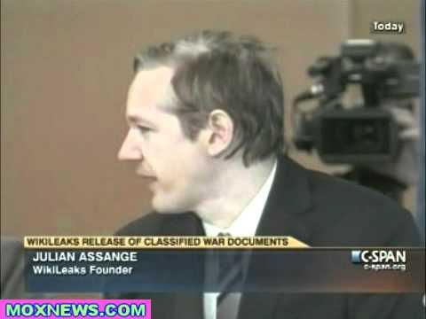 Julian Assange WikiLeaks Press Conf On Iraq War Document Release pt.1