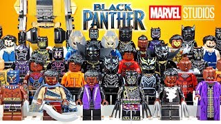Black Panther Infinity War & Civil War Unofficial LEGO Minifigure Collection 2018