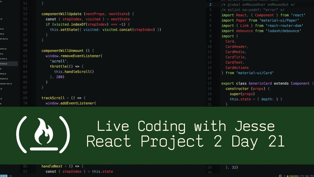 React Project 2 Day 21 - Live Coding with Jesse