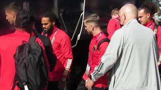 Uscita Belgio hotel Torino pre partita Italia - Belgio