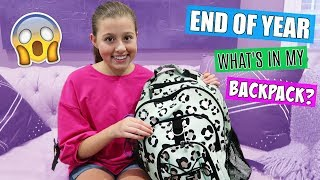 whats in my backpack? end of school year 2018