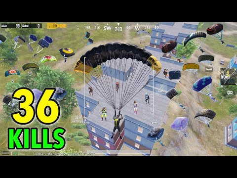 36KILLS!! NEW WORLD RECORD in ONLY HERE🔥Pubg Mobilr