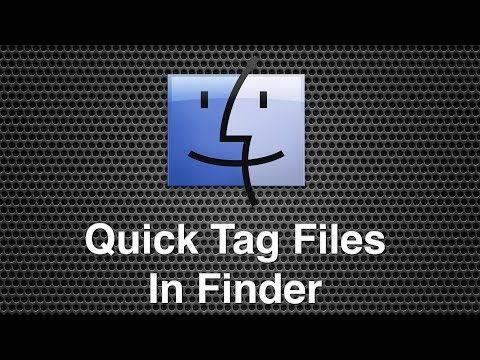 How To Tag Files Quickly In Finder - Mac OS X Mavericks
