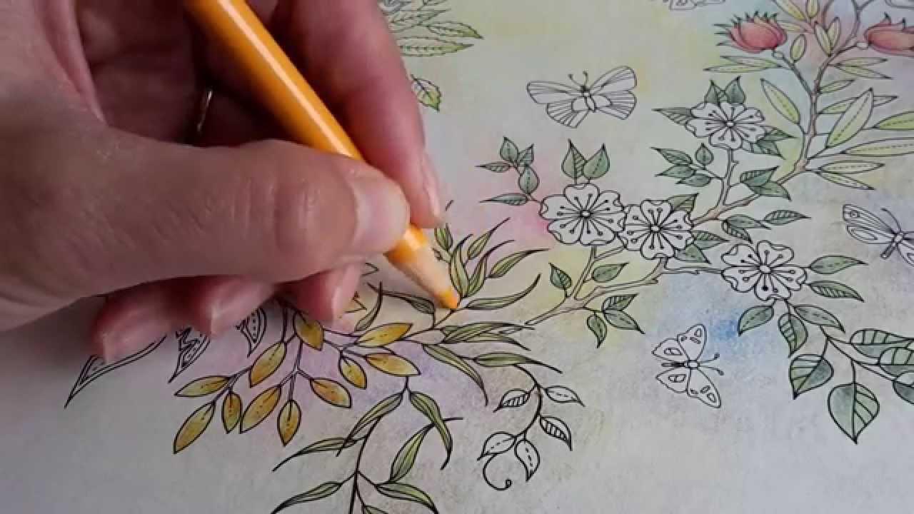 Building Background In Pastel Colours In Secret Garden