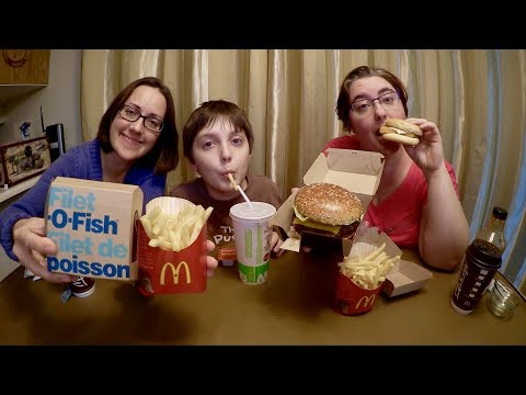 Trying Mcdonald's Filet O Fish For The First Time | Gay Family Mukbang (먹방) - Eating Show