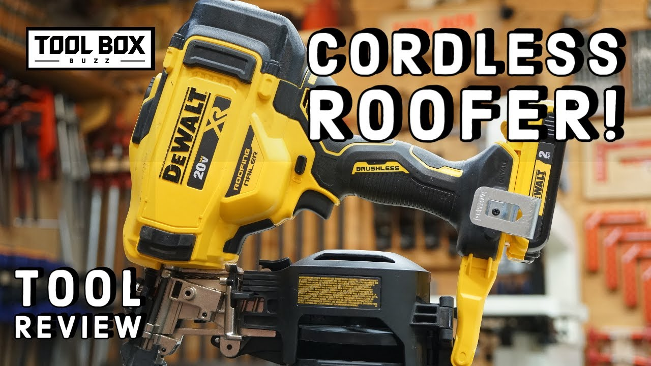 Dewalt 20v Cordless Roofing Nailer Tool Review Youtube