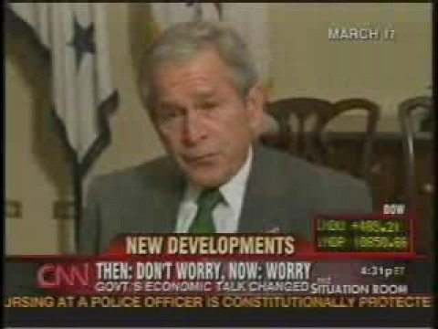 Bush 2007: Economy is great!, then IMPLODE!!!!