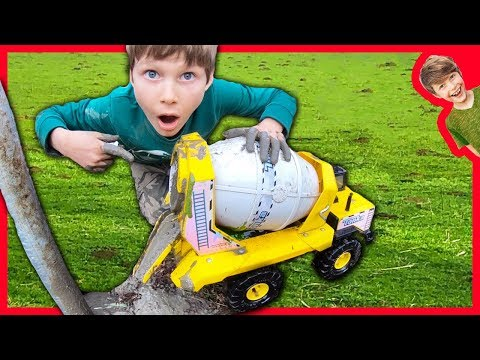 Cement Truck Pours REAL Cement!