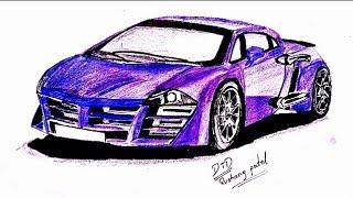 How to draw tarzan the wonder car Easily