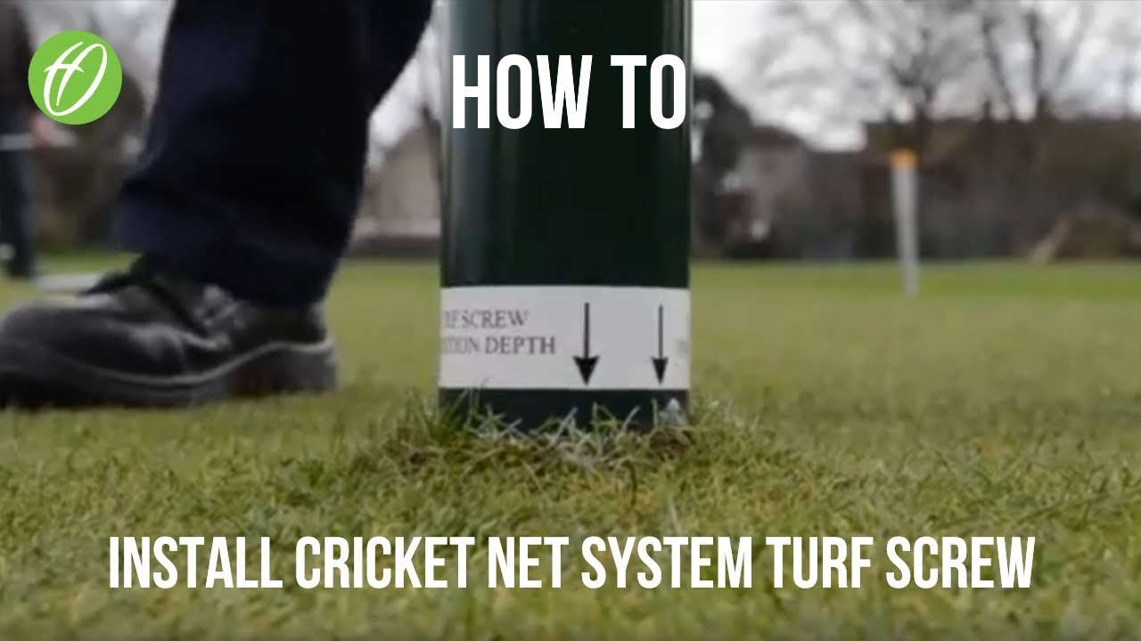 turf cricket net system installation video youtube