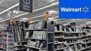 Walmart Home Decor Mirrors Frames Wall Decor   Shop With Me Shopping Store Walk Through 4k