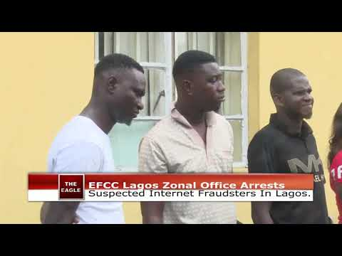 The Eagle Episode 223D: EFCC Lagos Zonal Office Arrests Suspected Internet Fraudsters in Lagos.