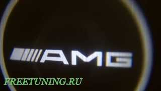 Проекция логотипа на авто AMG Freetuning.ru