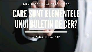 Sfanta Treime Braila - 13 Septembrie 2020 - Apocalipsa 3:12
