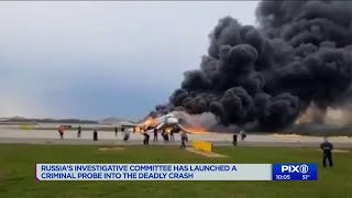 Russia says at least 40 dead on burning jet