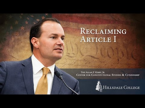 Reclaiming Article 1 | Hillsdale College Kirby Center