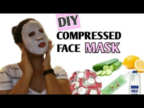 DIY : DAISO COMPRESSED FACE MASK | HOW TO USE A FACIAL MASK SHEET