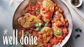 Chicken Breasts with Brown Butter-Garlic Tomato Sauce | Recipe | Well Done