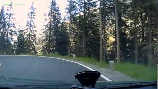 Driving down form the Alps Silverttastrase Silvertta Austria
