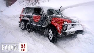 Driving our 6x6 Niva for the first time