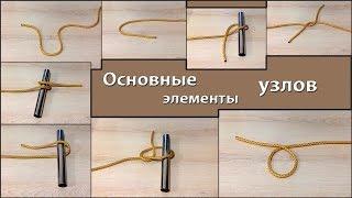 Как завязывать узлы. Основные элементы узлов. Азы наузистики.