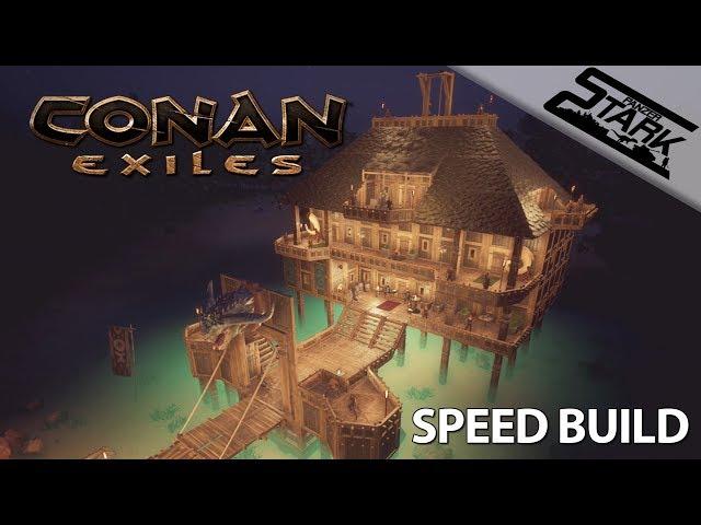 Conan Exiles - Speed Build #1 (Stégház / Lake House) - Stark