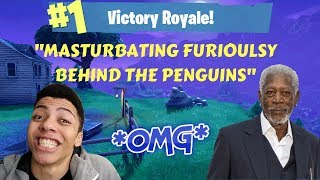 MYTHE NARRATES AS MORGAN FREEMAN! (Fortnite Stream Faits saillants)