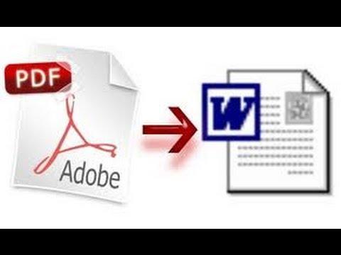 كيفية تحويل مستند pdf الى وورد