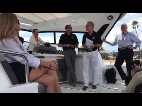 Unveiling the Aquila 36 at the Miami International Boat Show